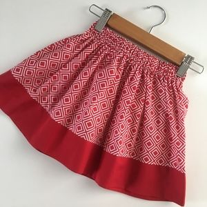 Other - Girl's Skirt - Size 2T - Red Geometric